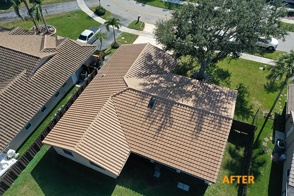 cement tile reroof after